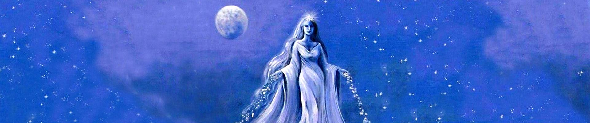 Encart déesse bleue